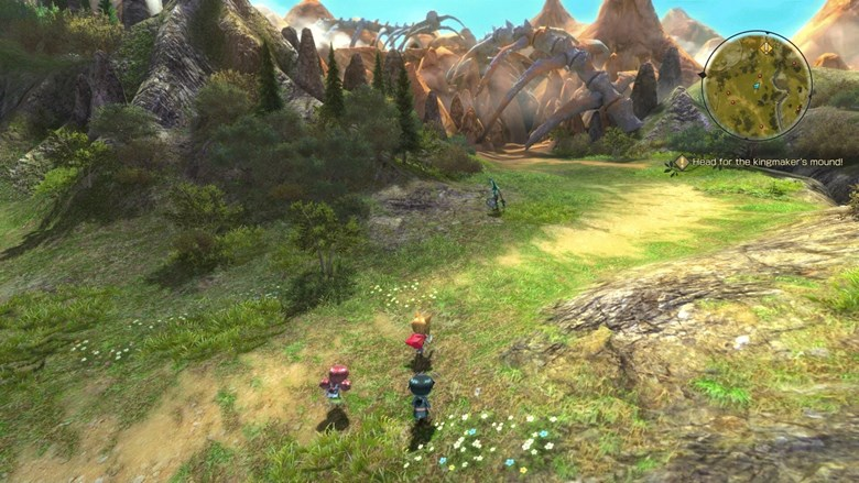 The field map uses a 3D environment and you can move around freely with your Chibi characters!
