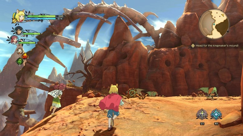 Cloudcoil Canyon is a desertic region where the main quest of the game will proceed. In these areas, enemies are now roaming the land and combat will engage